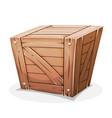wooden crate vector image vector image