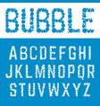 alphabet bubble font template letters bubbles vector image