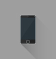 flat style black modern touchscreen smart phone vector image