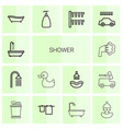 14 shower icons vector image vector image