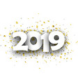 2019 new year background with gold and silver vector image vector image