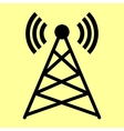 Antenna sign Flat style icon vector image vector image