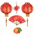 Background Oriental Chinese New Year Element vector image