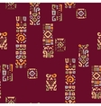 Background with elements of African ornament vector image vector image