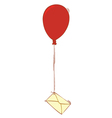 balloon and letter vector image vector image