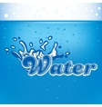 banner for advertisement with drops of water and vector image vector image