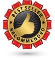 best seller recommended golden label vector image