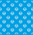 car steering wheel pattern seamless blue vector image vector image