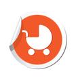 carriage symbol orange tag vector image
