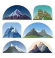 cartoon mountain side landscapes outdoor vector image vector image