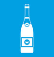 champagne icon white vector image vector image