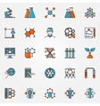 Chemistry and biotechnology icons vector image vector image