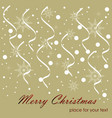 christmas background solar situation snowflakes vector image vector image