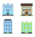 city house icon old urban vintage buildings vector image