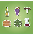 color icons with symbols of wine making vector image vector image