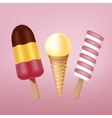Colorful ice cream vector image