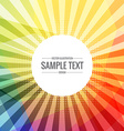 colorful sunburst rays background vector image vector image