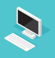 Computer Monitor Isometric decktop vector image vector image
