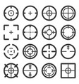 crosshair icons set on white background vector image