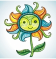 cute friendly eco flower 3 vector image