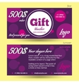 Discount voucher template violet background vector image