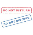 do not disturb textile stamps vector image