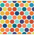 dotted colorful seamless geometric pattern vector image vector image