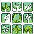 eco labels - green nature signs vector image vector image