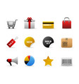 ecommerce icons ecommerce web icons with shopping vector image
