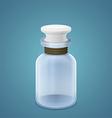 Empty clean bottle vector image vector image