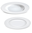 Empty plates isolated on white vector image