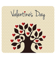 Fall in love Valentines day tree vector image vector image