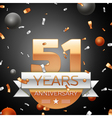 Fifty one years anniversary celebration background vector image vector image