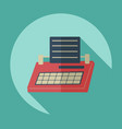 flat modern design with shadow icon typewriter vector image vector image