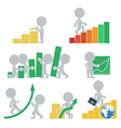 Flat people statistics vector image vector image