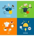 Flat profession compositions vector image vector image