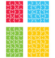 four colorful puzzles vector image vector image