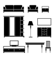 Furniture black silhouette on a white background vector image vector image