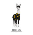 future llama fashion cartoon chacter alpaca vector image vector image