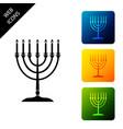 hanukkah menorah icon isolated on white background vector image vector image