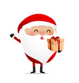 happy christmas character santa claus cartoon 018 vector image vector image