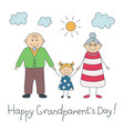 happy grandparents day colorful card with text vector image