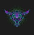 head bull ornament symbol vector image vector image
