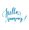 hello summer lettering isolated vector image