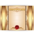 Horizontal royal gold certificate with lace ornate vector image vector image
