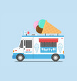 ice cream truck mobile shop vector image