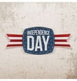 Independence Day festive Tag with Type vector image vector image