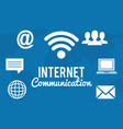 internet communication set icons vector image vector image