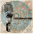 Jazz music concert poster vector image