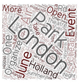 London open air events in june text background vector image vector image